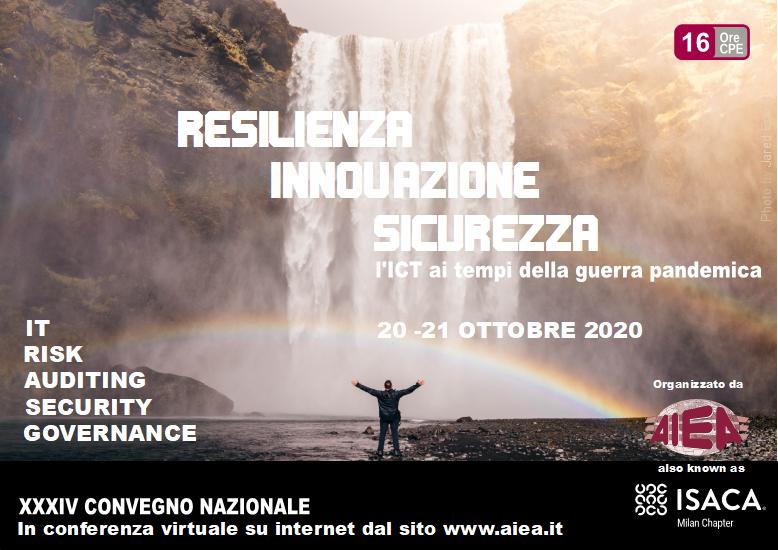 Coperatina Brochure XXXIV Convegno Nazionale AIEA - IT Auditing, Security & Governance 2020