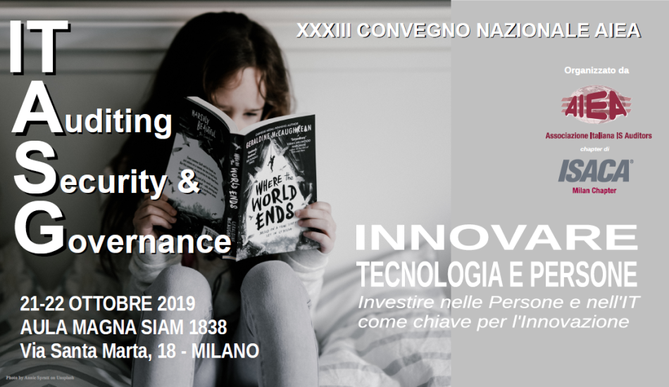 Coperatina Brochure XXXIII Convegno Nazionale AIEA - IT Auditing, Security & Governance 2019
