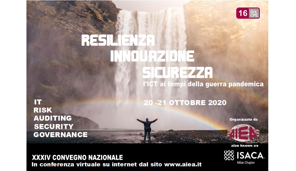 Banner XXXIV Convegno Nazionale AIEA - IT Auditing, Security & Governance 2020