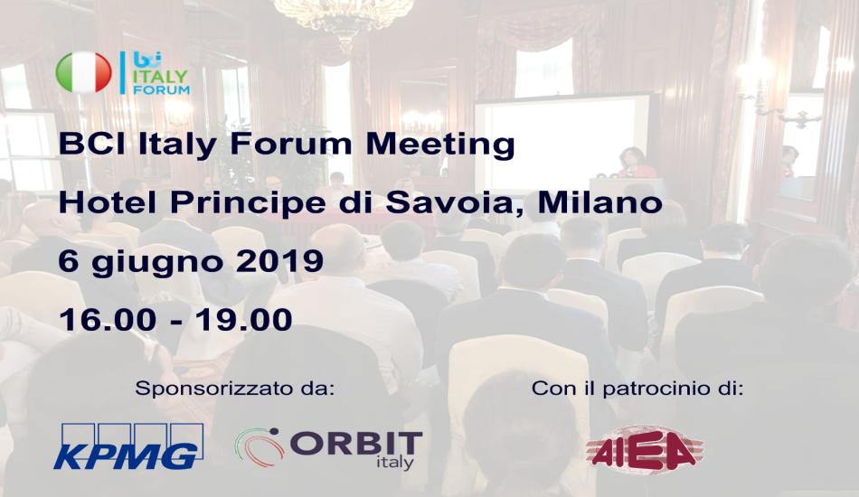 Evento BCI Forum 6 giugno 2019