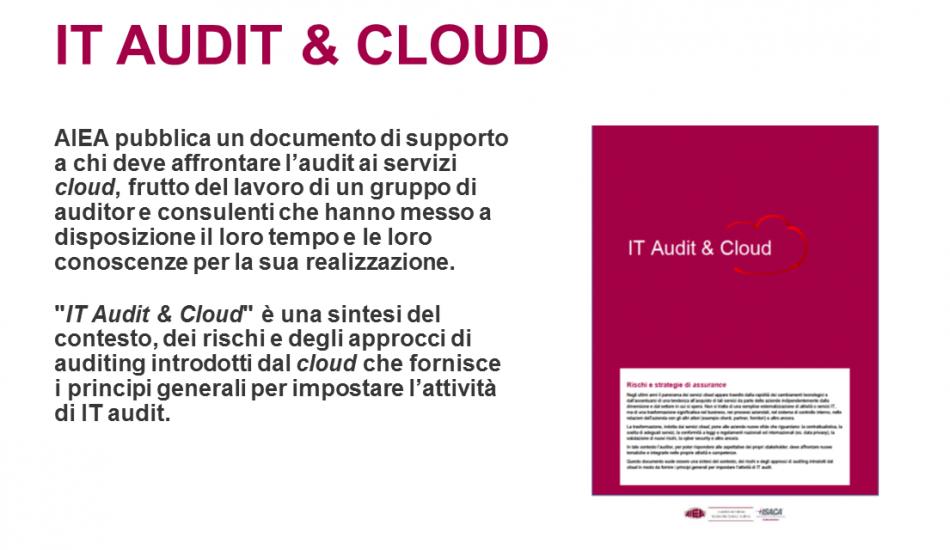 AIEA pubblica IT Audit & Cloud